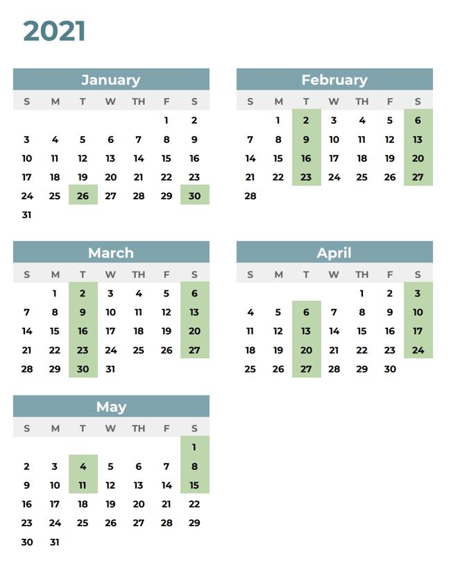 ICC Calendar –English 2
