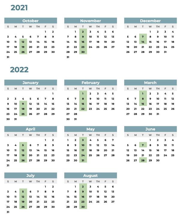 ICC ENG04 Calendar