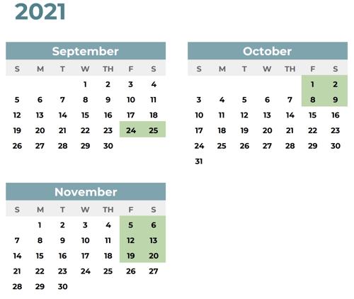 Team Coaching 1 Calendar